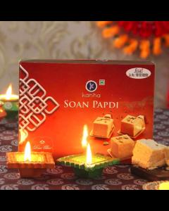 Soan Papdi Box with 2 Diyas