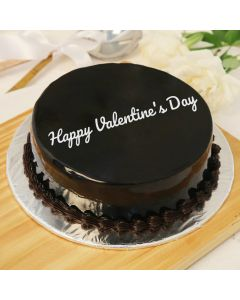 Special Valentines Day Round Chocolate Cake