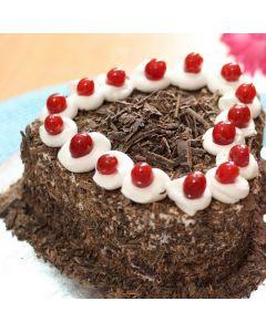 Buy Valentine Black Forest Heart Shape Cake Online