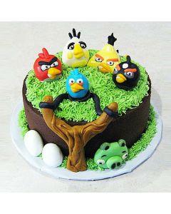 Buy Angry Bird Floret Cake Online