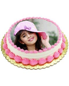 Buy Vanilla Photo Cake 1 kg Online