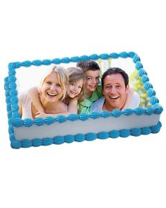Buy Rich Creamy Vanilla Photo Cake Online