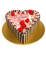 Buy Heart shape Strawberry cake Online