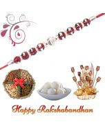Beads Rakhi combo  (Dryfruit, Sweets, Choco Flowers)