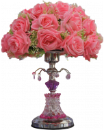 Buy pink flower Night lamp Showpiece Online