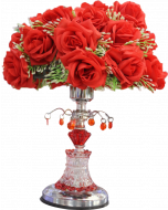 Buy Red flower Night lamp Showpiece Online
