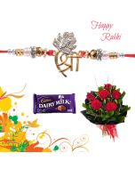 Shree Pendant Rakhi Combo  (Flowers, Chocolates)