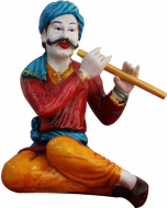 Buy Traditional Women Statue with flute Online