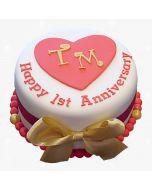 Elegant Anniversary Cake