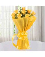 Send Yellow Roses Bouquet Online