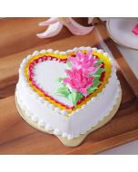 Buy Heart Shape Pineapple Cake Online