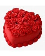 Hot Red Heart Cake