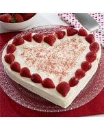 Buy Heart Shape Strawberry Cake Online