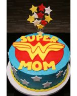 Mother's Day Wonder Woman Cake