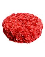 Red Rose Swirl Cake