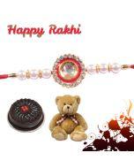 Diamond Pendent Rakhi Combo  (Teddy, Cake)