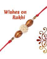 Send Oval Sandalwood Beads Rakhi Online