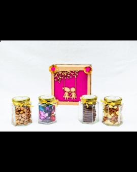 Rakhi Hamper Box with a Rakhi, Chocolates & Cookies
