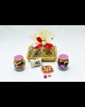 Rakshabandhan Decorative Basket with Chocolate & Dryfruits