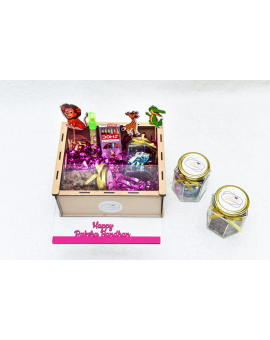 Decorative Boxes with 2 Jars of Chocolates & Chocos