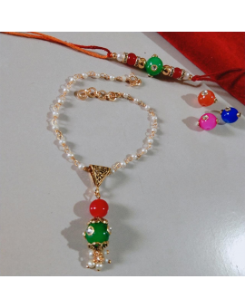 Special Pearl Beaded Rakhi for Brother